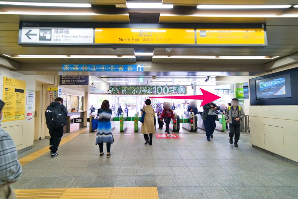 中野駅北口改札